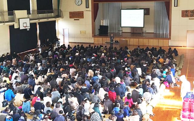 那珂川町の全中学校で「親講座」を開催